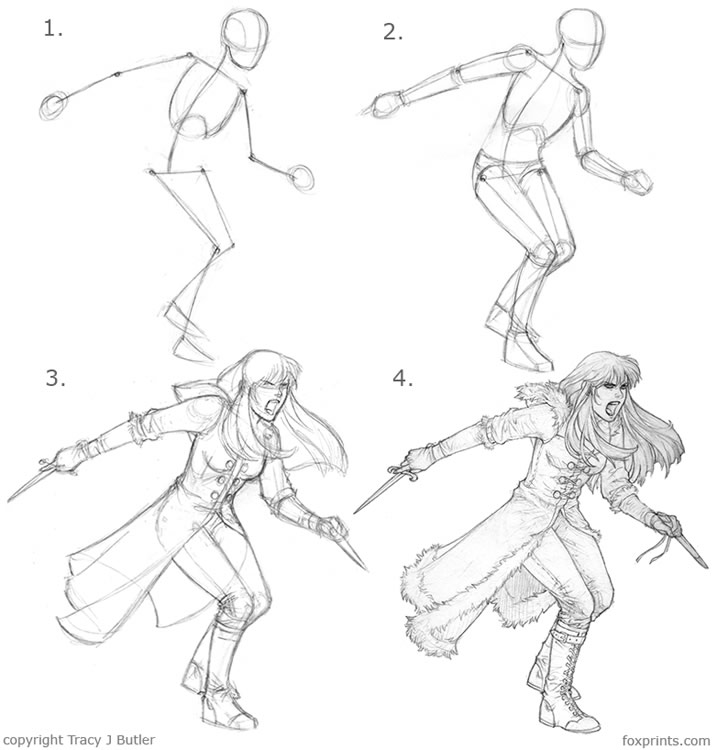 Character Design Drawing Tutorials : Ainessa character drawing tutorial